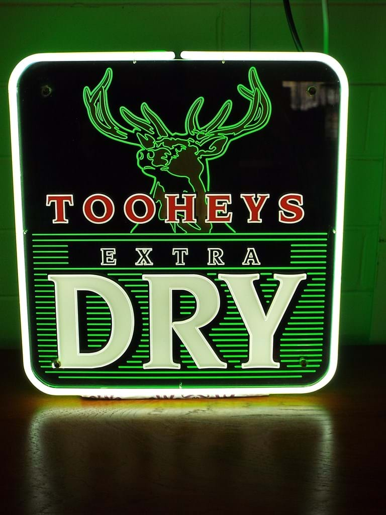 Tooheys beer neon advertising sign