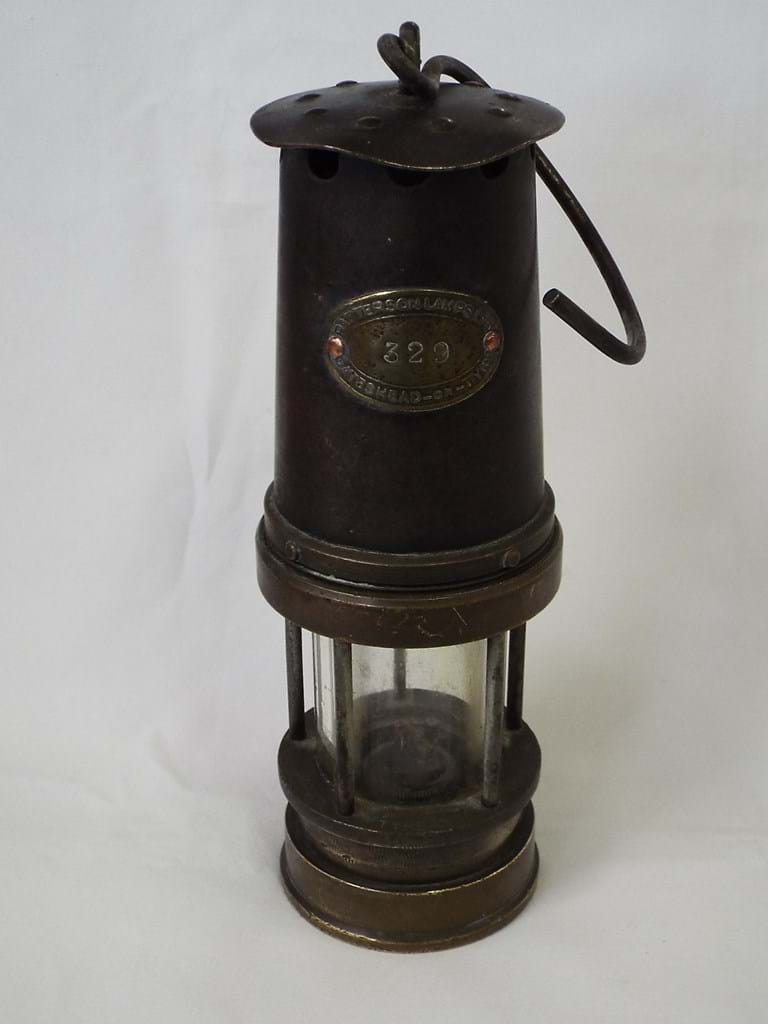 Early 20th c. mining safety lamp
