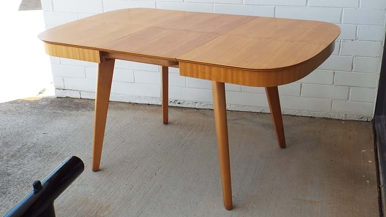 1950s butterfly extension Parker dining table