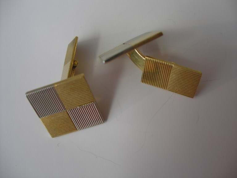 Pair 18 carat gold cufflinks by Piaget