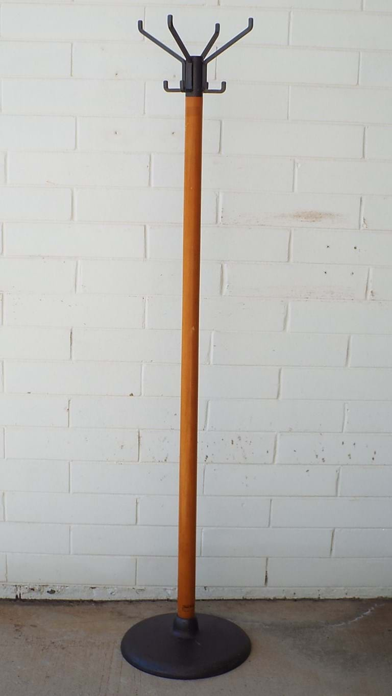 1970s timber coatrack/hatstand
