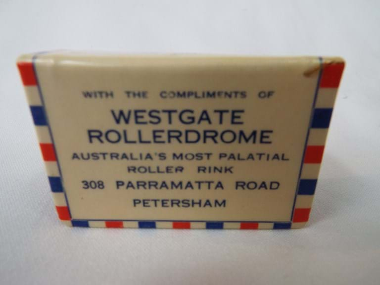 Westgate Rollerdrome Petersham souvenir 1937