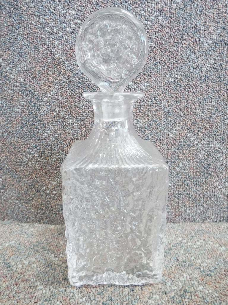 Whitefriars Glacier glass decanter
