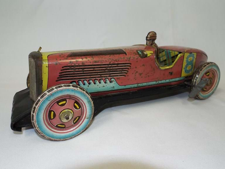 Vintage Japanese tin toy racer