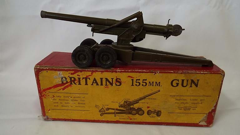Britains toy 155 mm gun