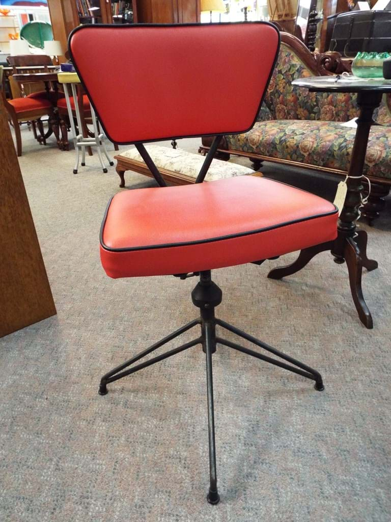 1950s steel framed swivel chair