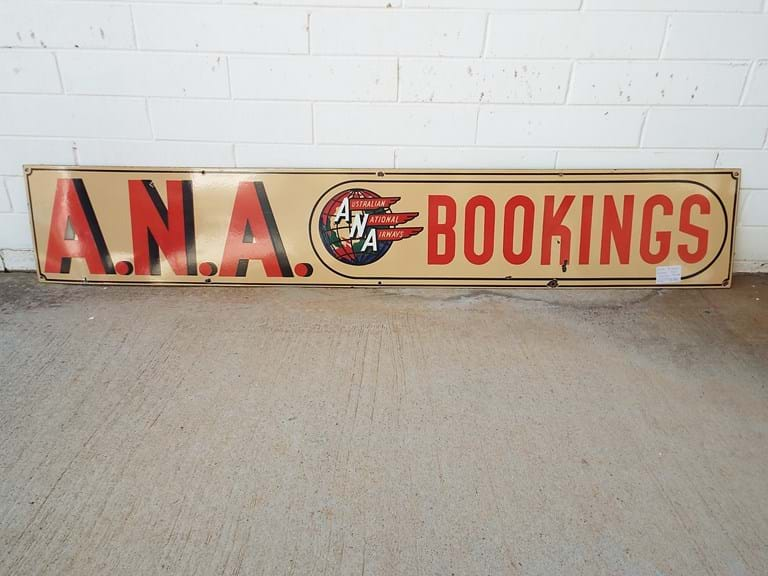 Original ANA airlines enamel sign