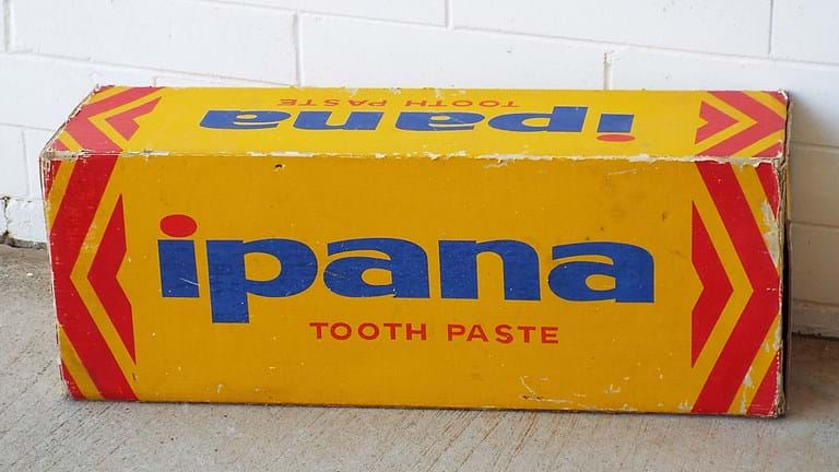 1960s advertising prop Ipana toothpaste