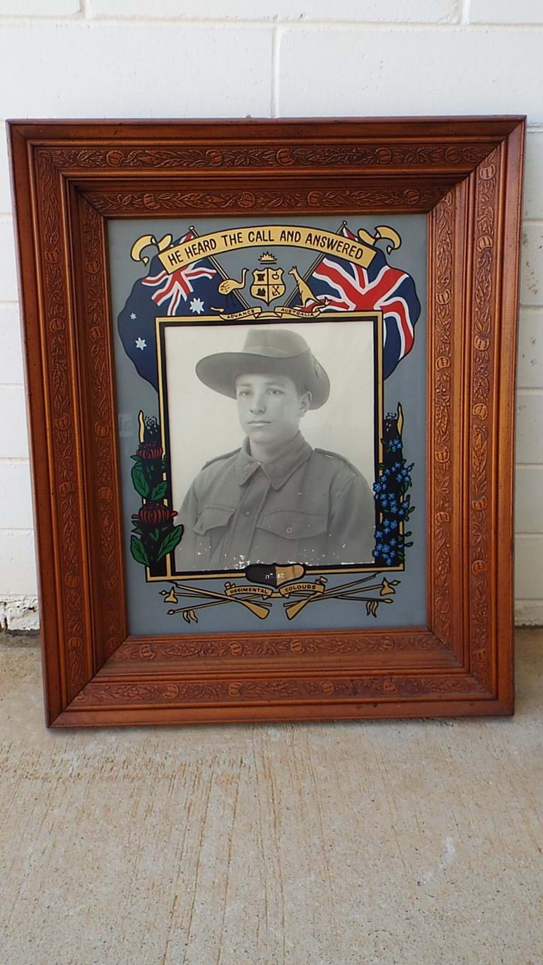 WWI Australian soldier framed photograph