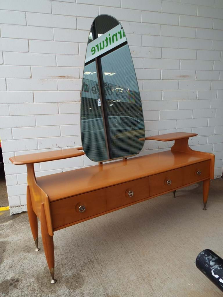 1960s timber dressing table by Burgess Furniture