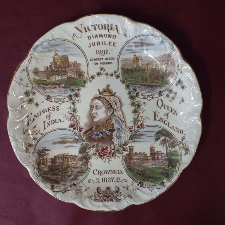 Queen Victoria 1897 Diamond Jubilee plate