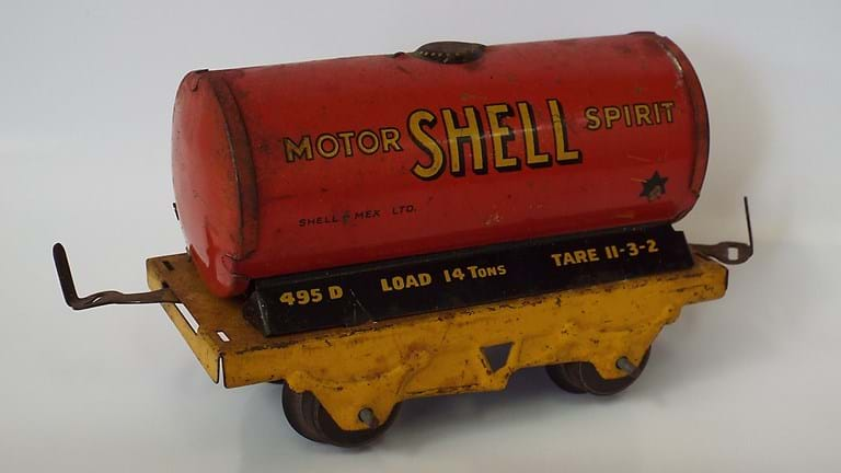 Vintage Shell motor spirit toy wagon