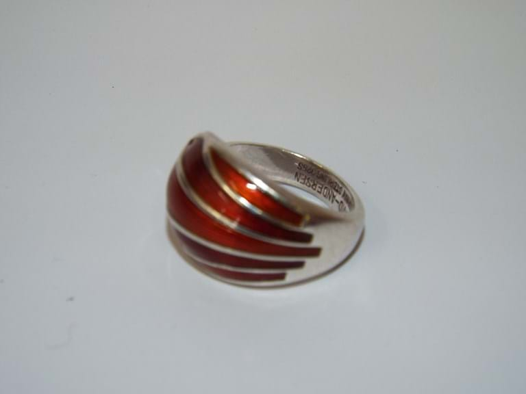 David Andersen Norwegian silver enamel ring