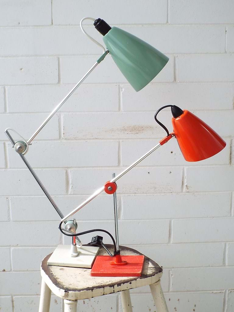 1960s and 1970s Planet desk lamps