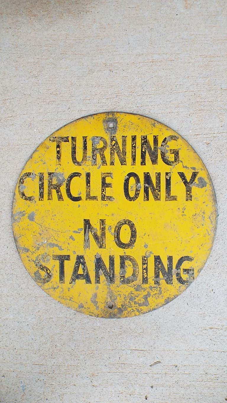 1960s steel traffic sign