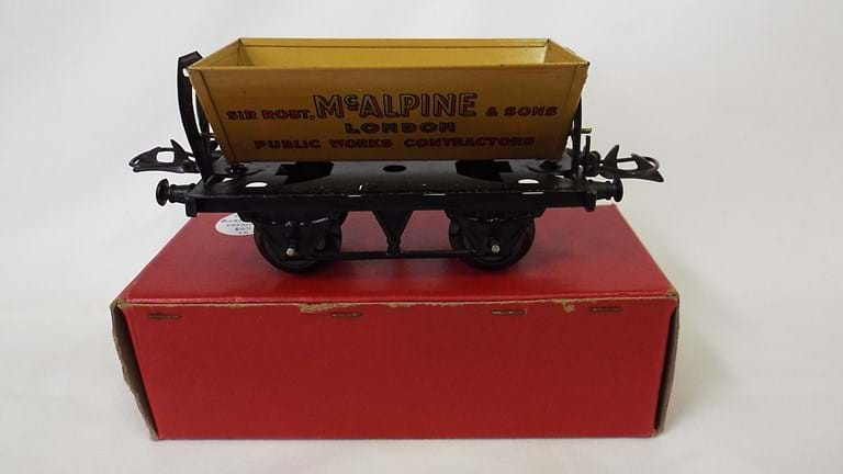 Hornby railway toy tipping wagon