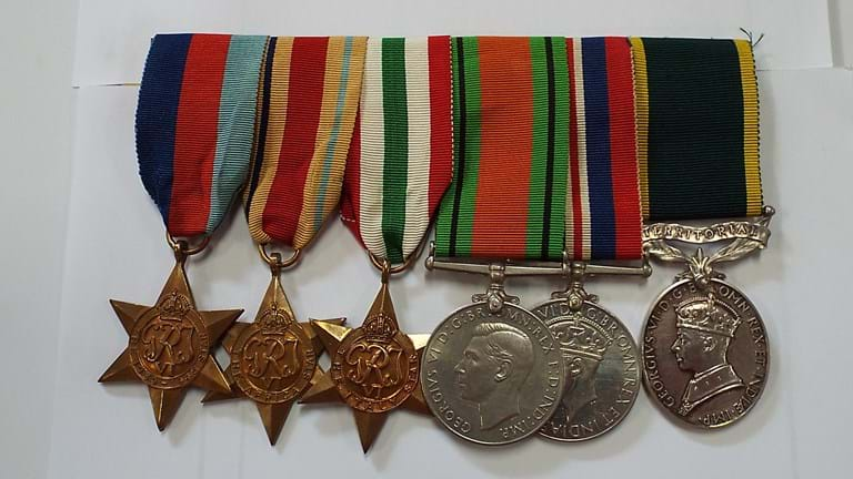 WWII six medal group