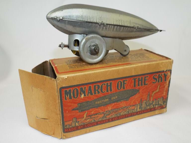 Marx USA tin toy zeppelin