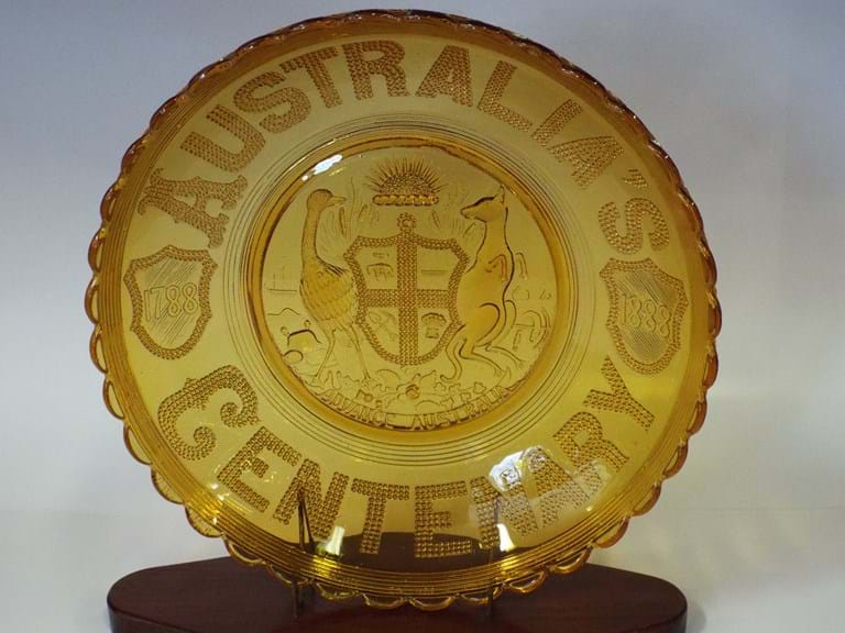 1888 Australia Centenary glass bowl