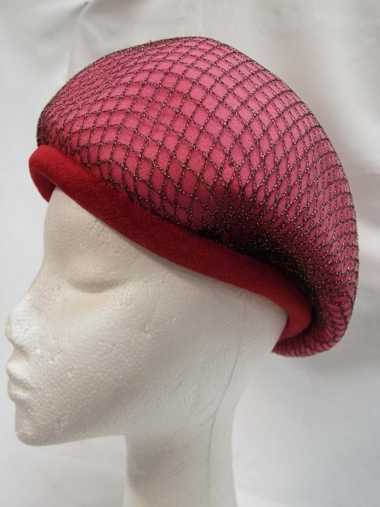 1960s pink crown hat