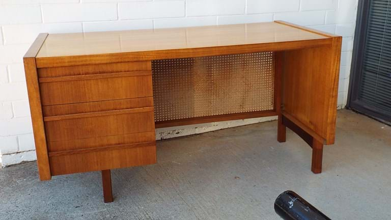 1970s timber desk