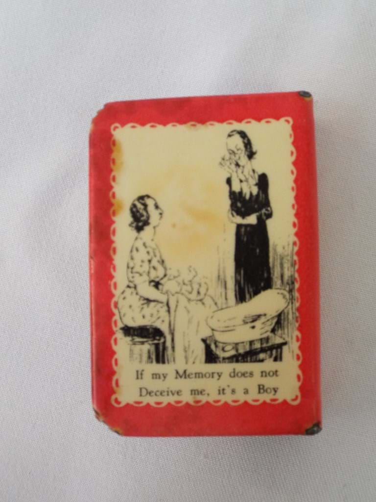 Humorous souvenir matchbox holder Occidental Hotel, Sydney