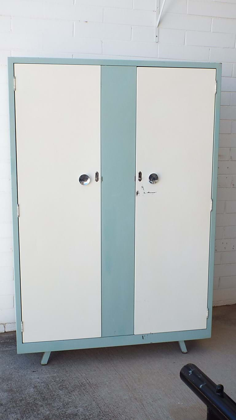 1950s steel wardrobe by Simmons Metal Furniture