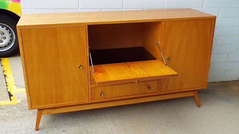 1950s Qld maple cocktail cabinet
