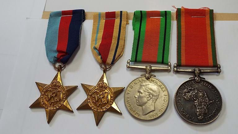WWII South African medal group