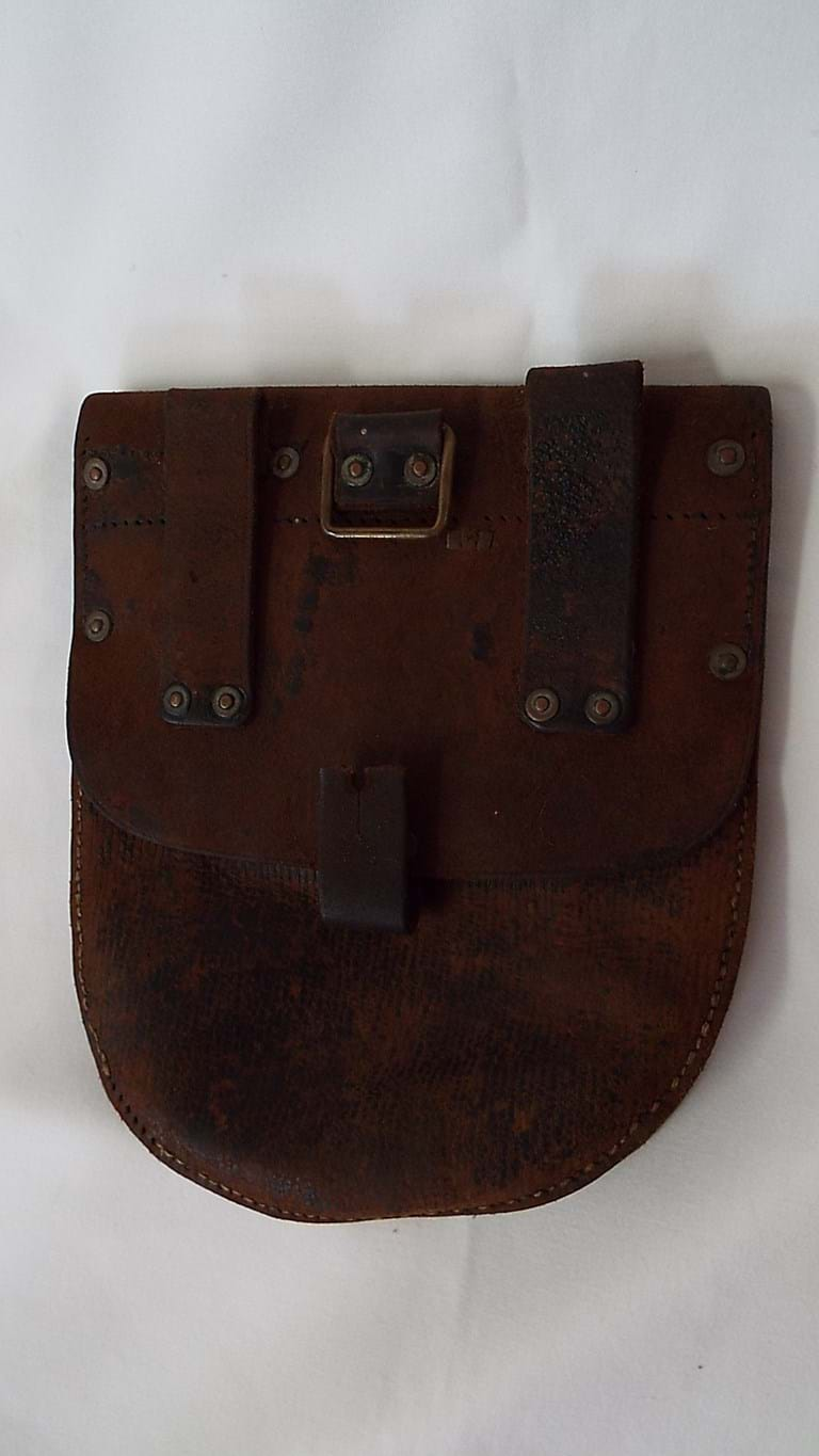 WWI leather ammo pouch