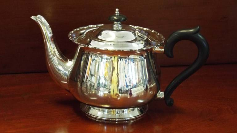 Australian sterling silver teapot by Fairfax & Roberts