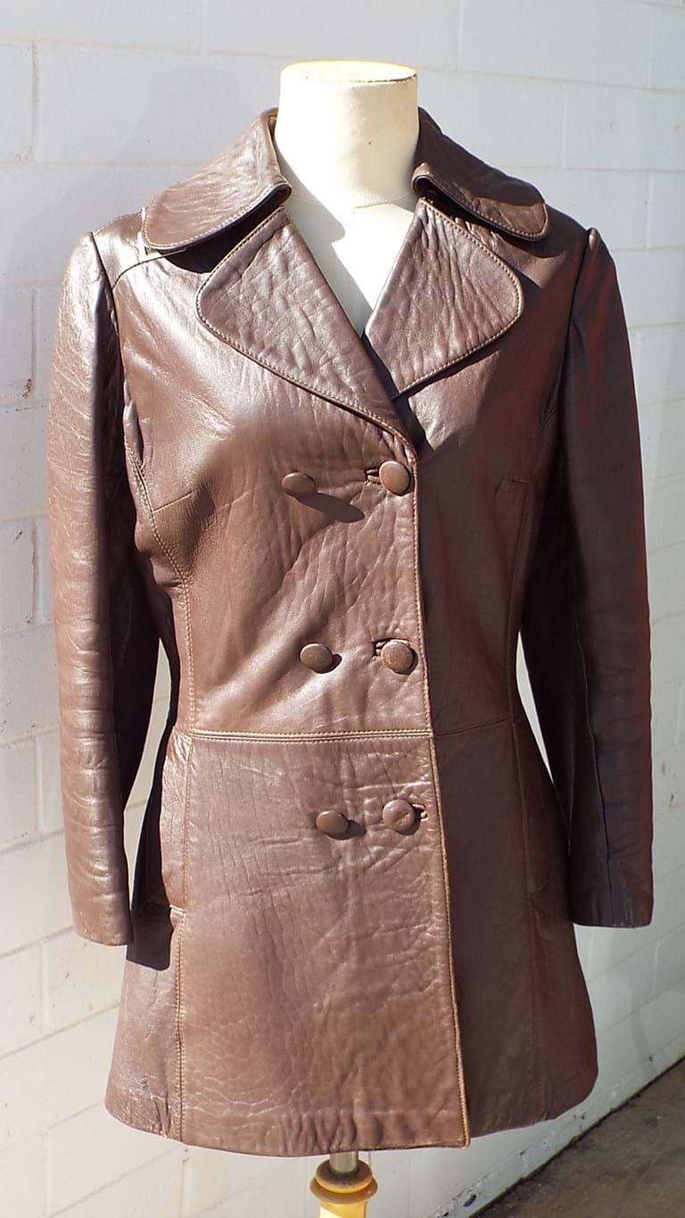 1960s ladies brown leather jacket