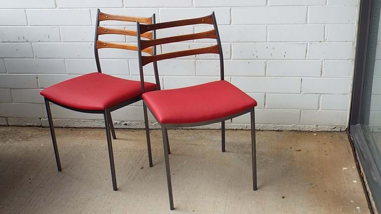 1960s set of four Framac dining chairs