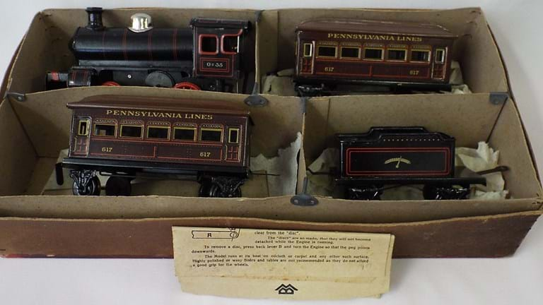 Boxed Bing toy Miniature Railroad System