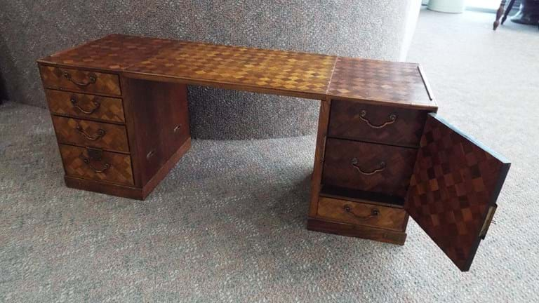 Japanese tansu miniature chest/scholar desk