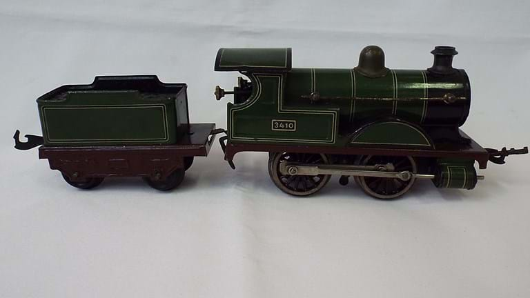 Bing tin toy loco and tender