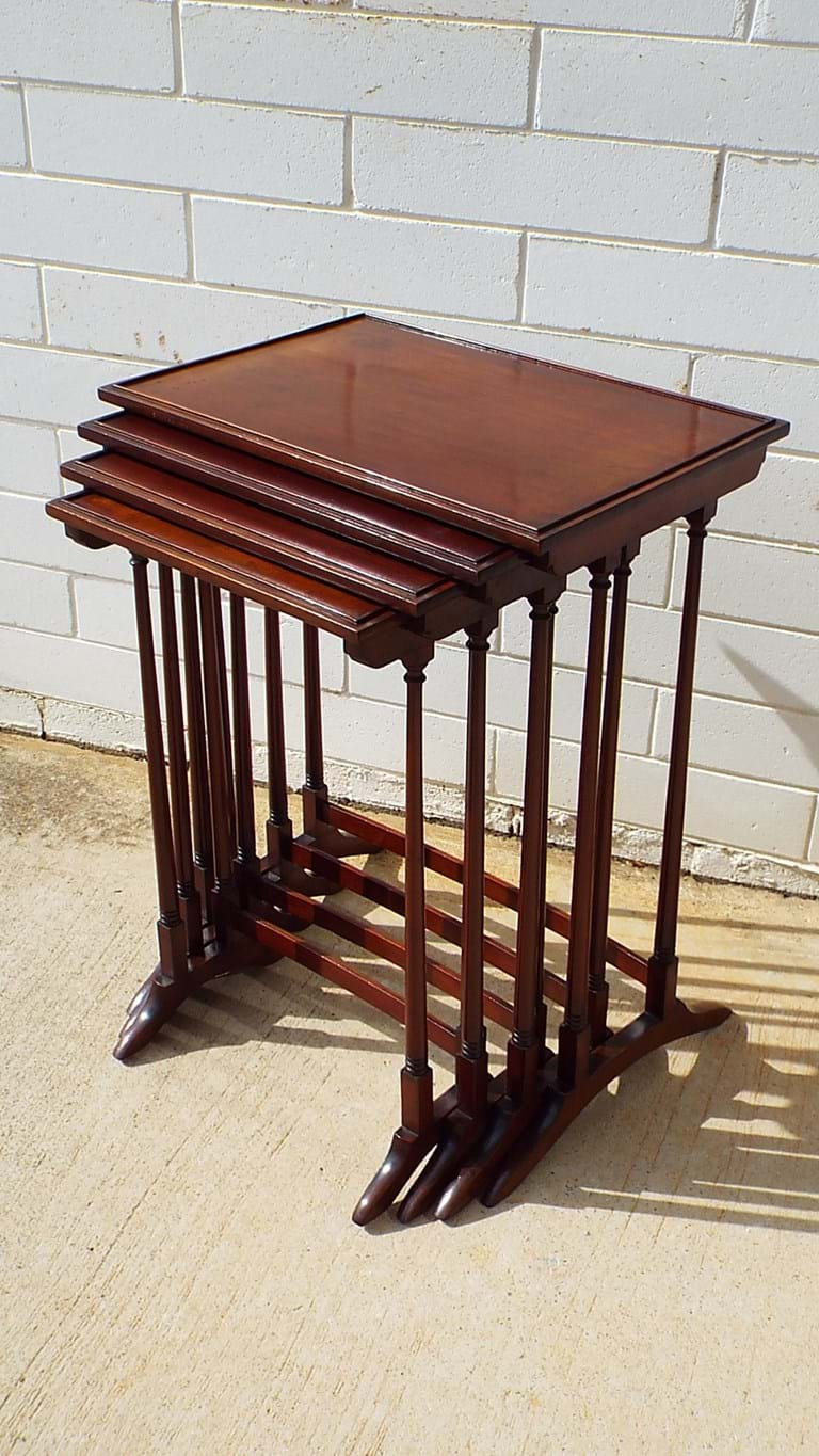 Victorian nest of mahogany tables