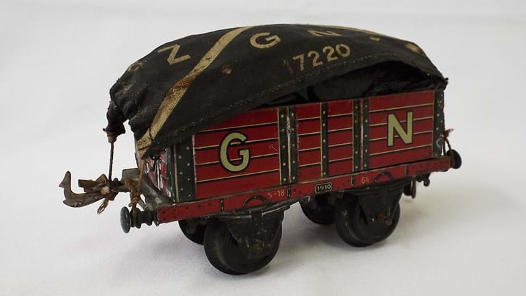 Bing tin toy wagon
