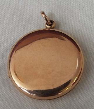 10 carat pink gold locket
