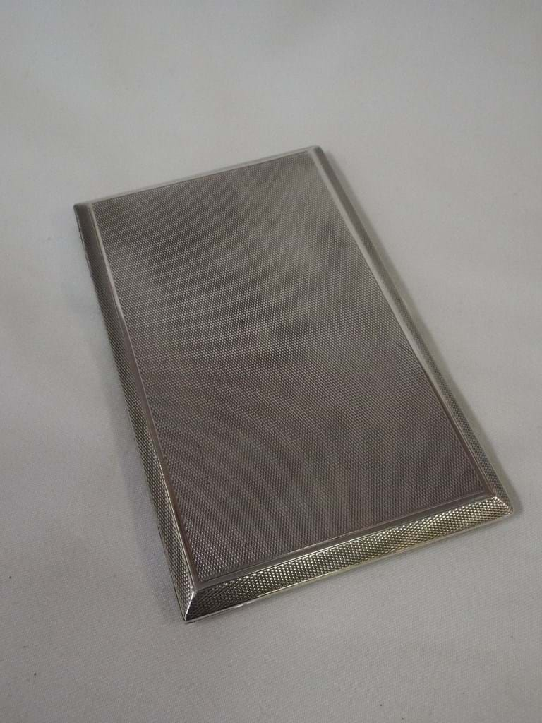 Sterling silver cigarettes case 1922