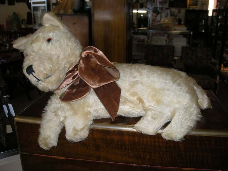 Plush toy dog British made