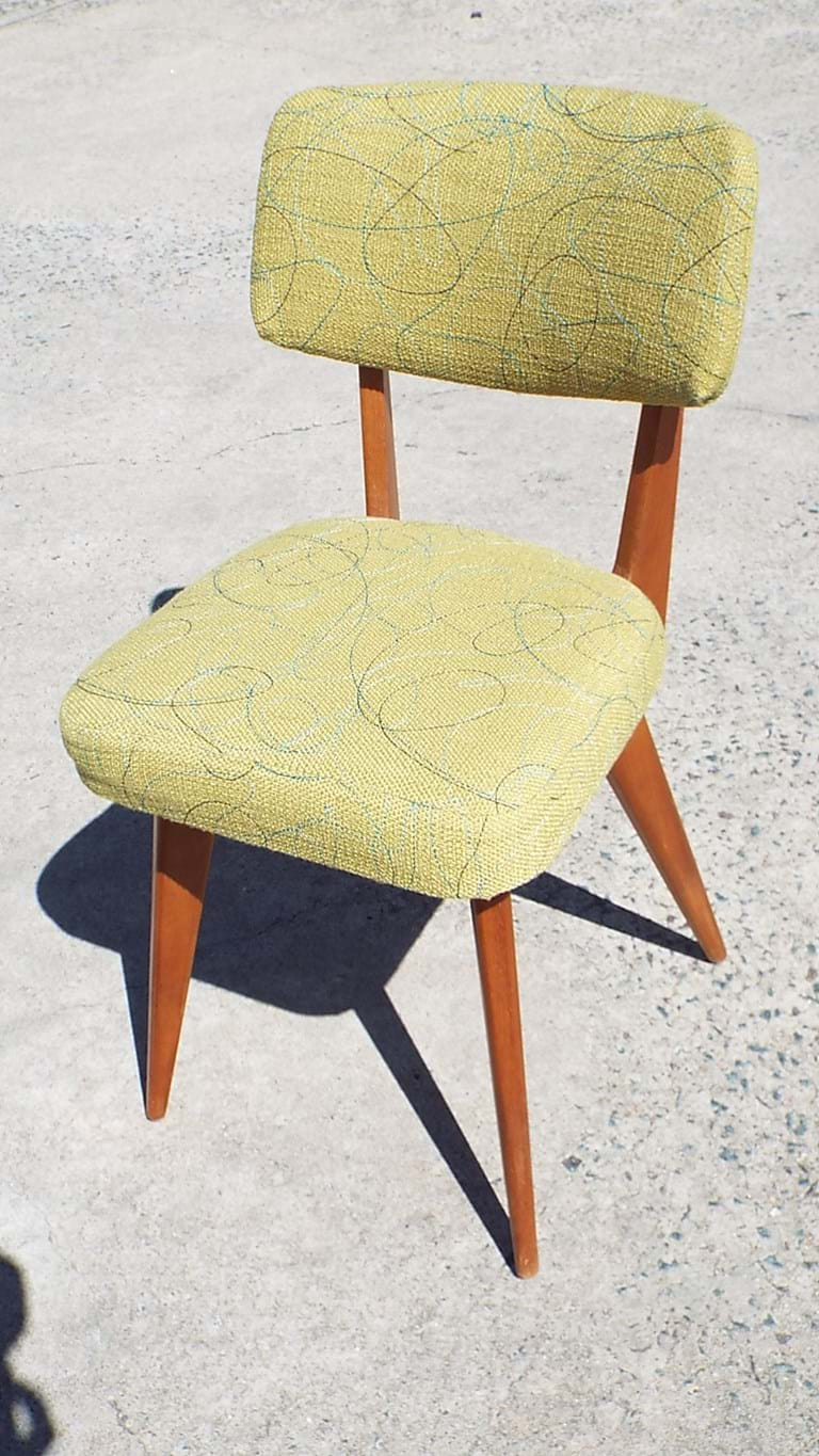 1950s timber side chair