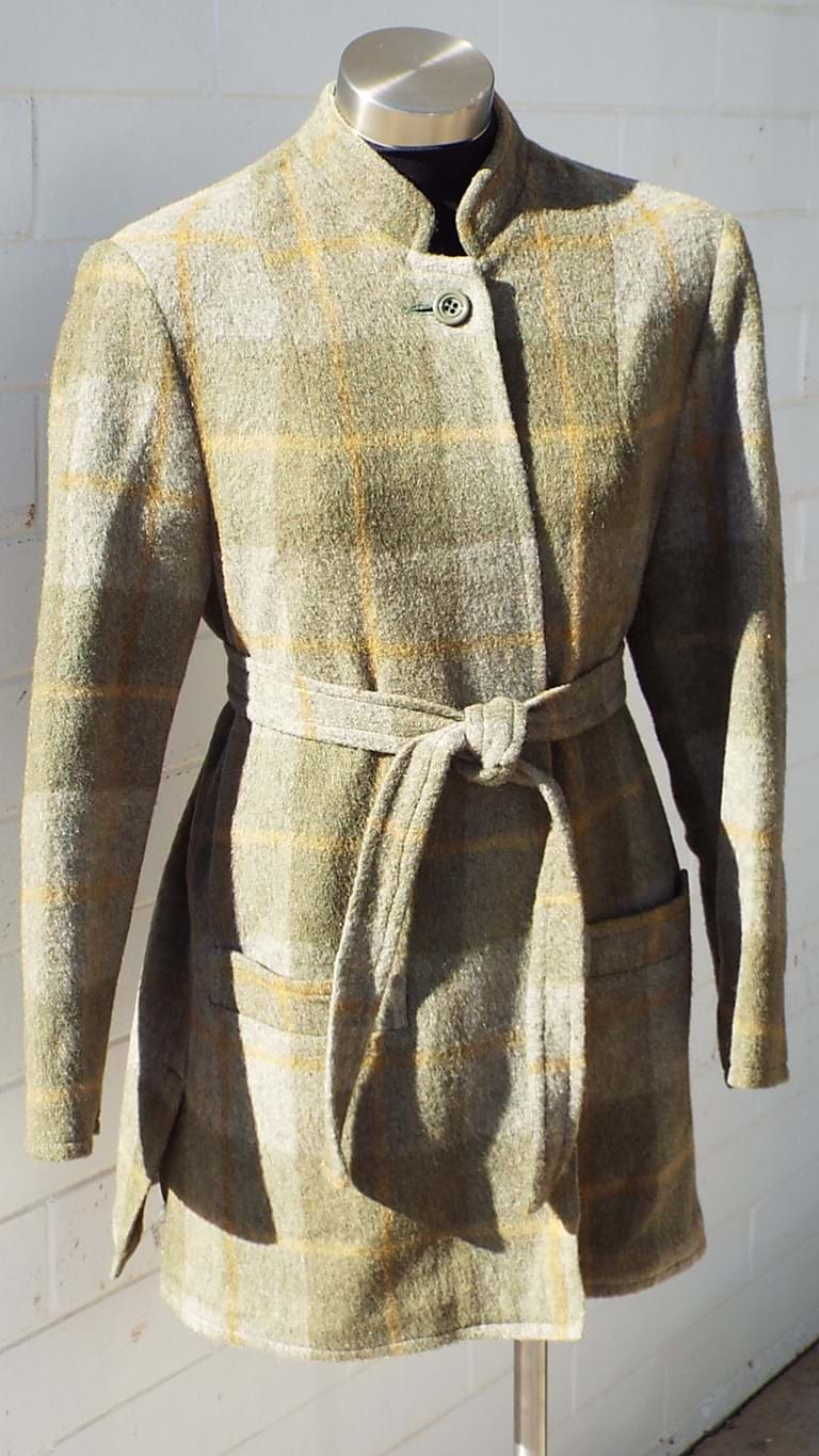 1970s checked wool blend jacket