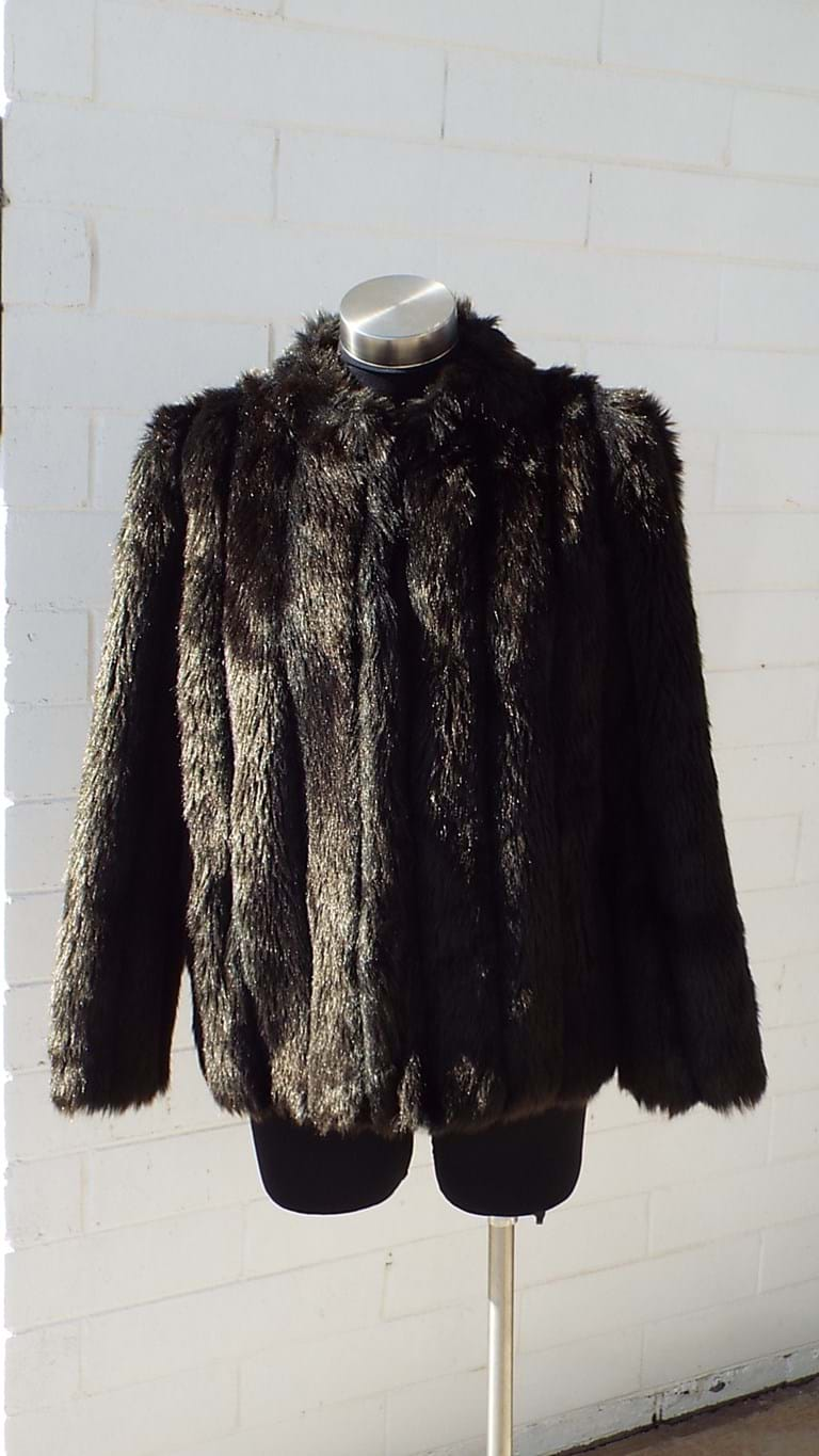 1970s dark brown faux fur