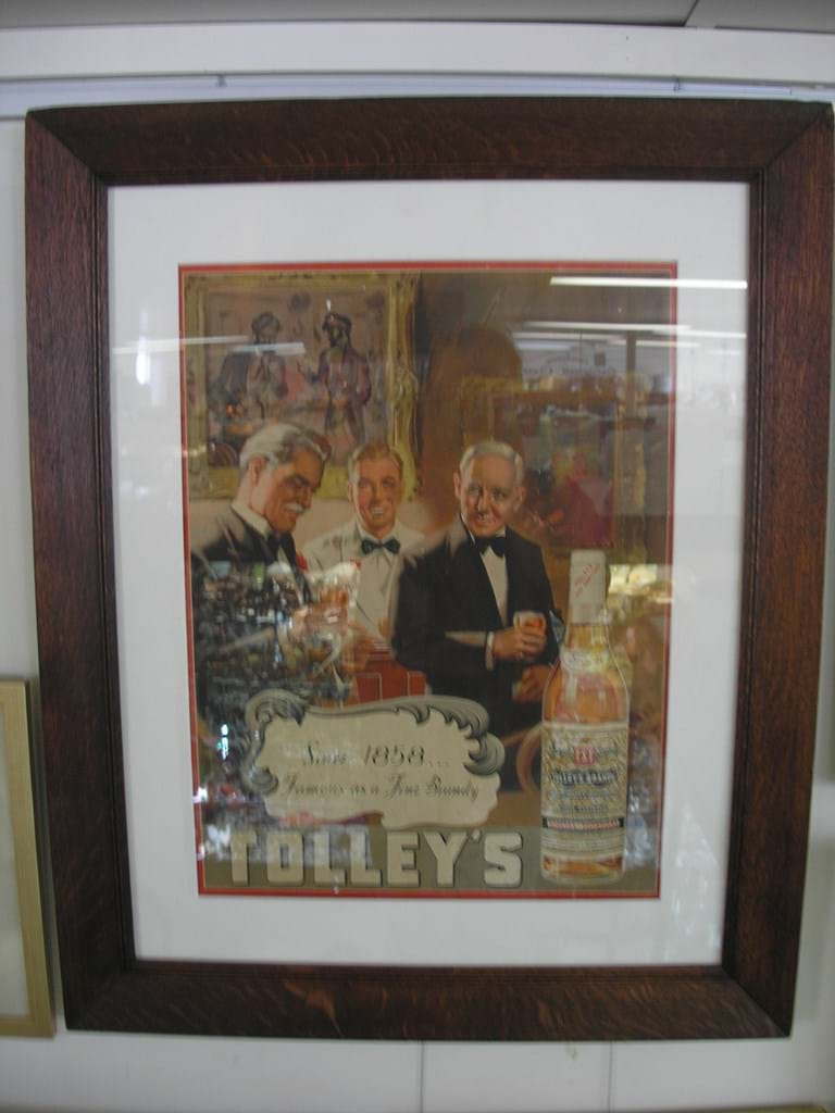 Tolleys Australian brandy advertising poster