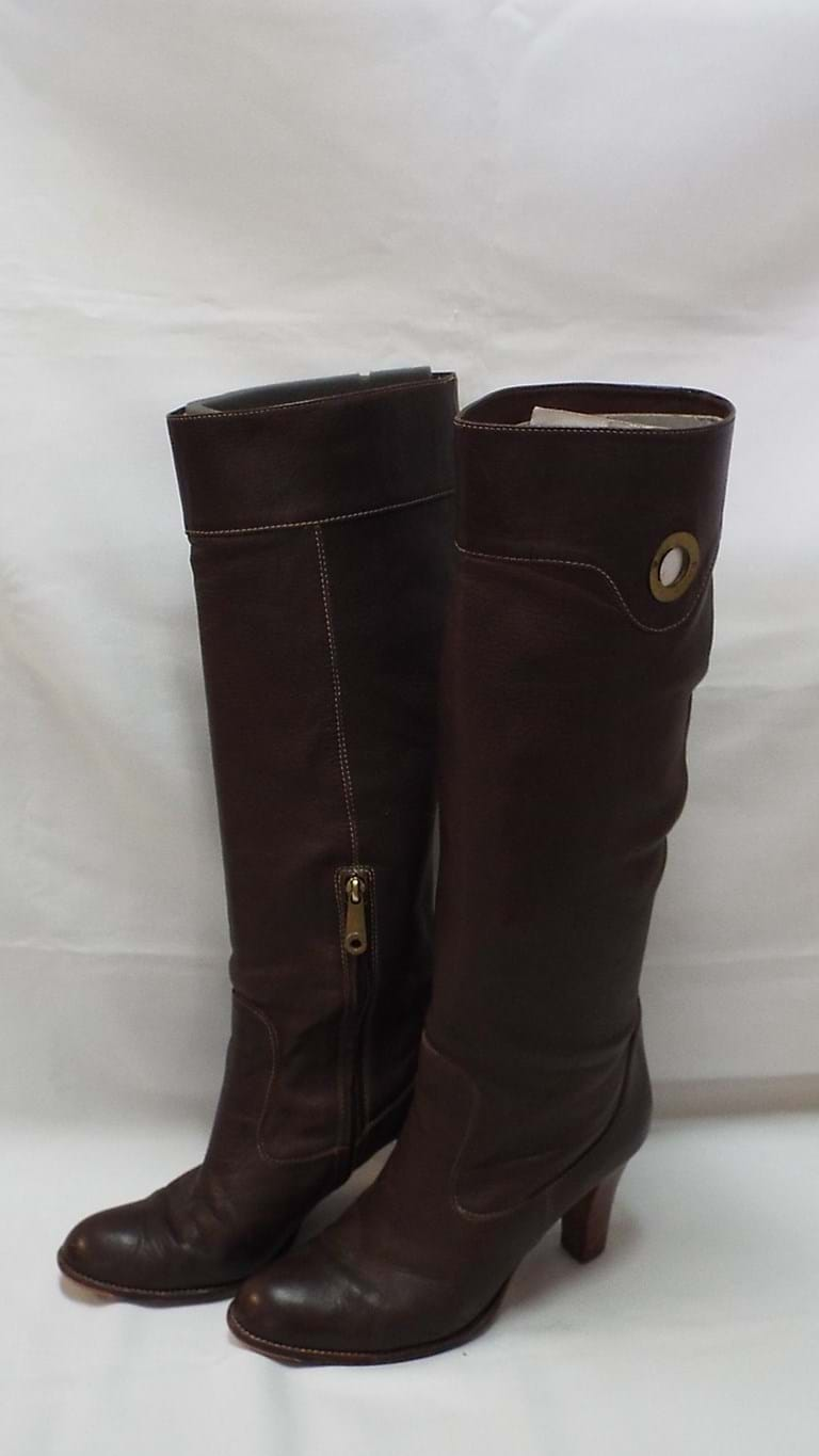 Pair Bally brown leather boots