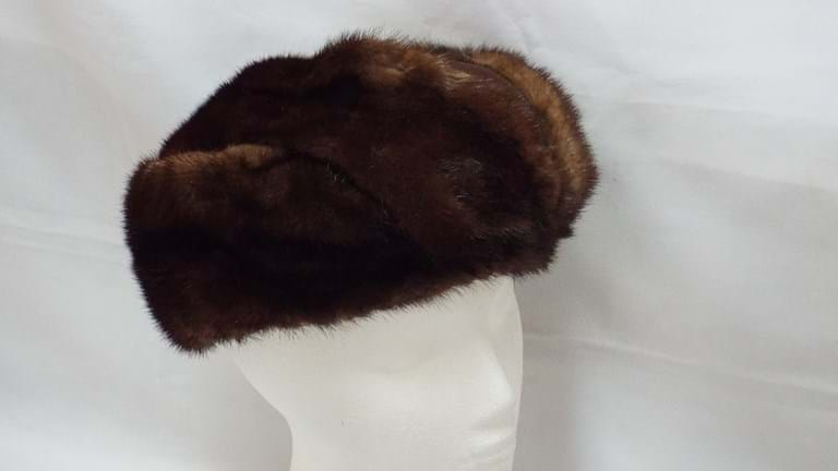 1960s brown mink hat