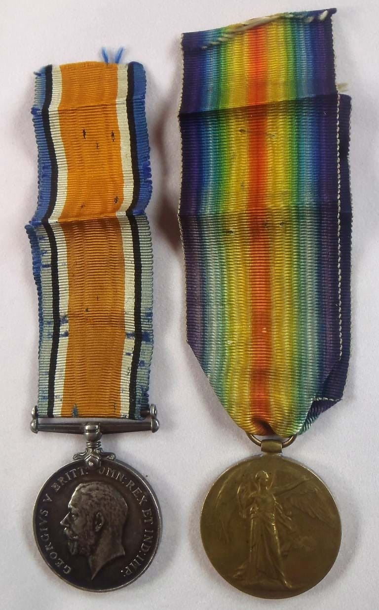 UK issue British WW1 War Medal and Victory Medal group