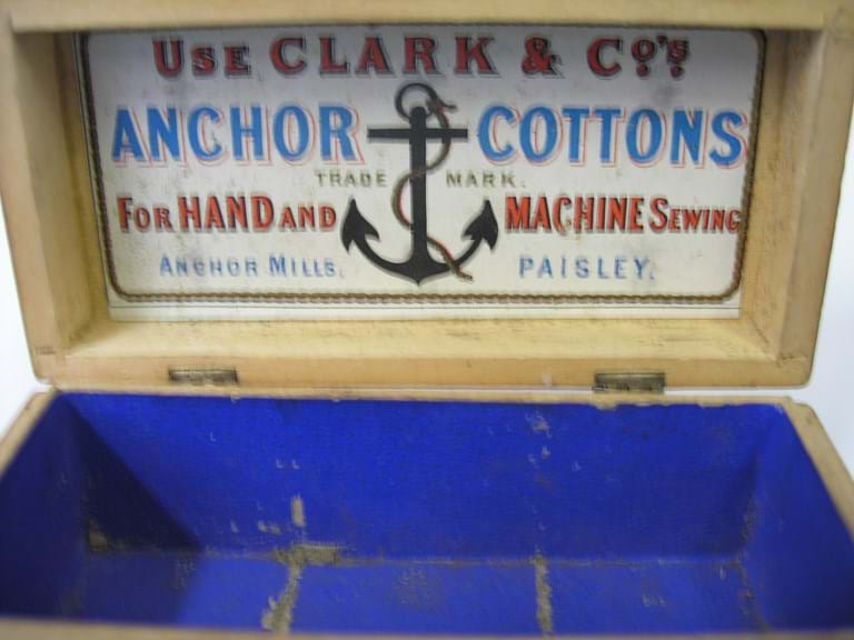 Anchor Cotton reels advertising box