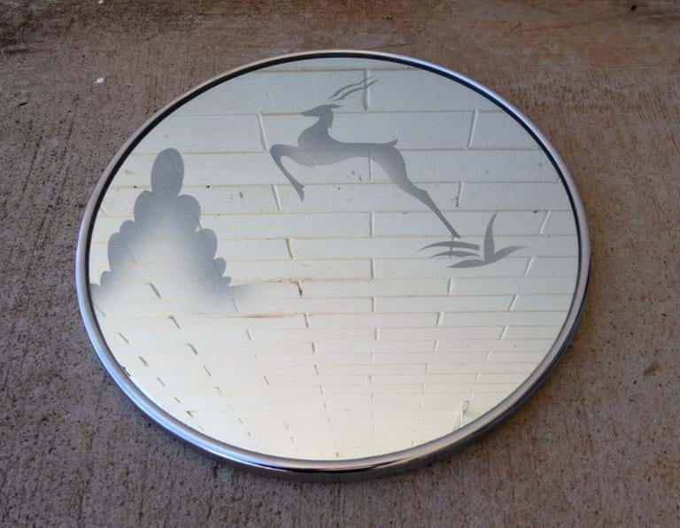 1950s wall mirror